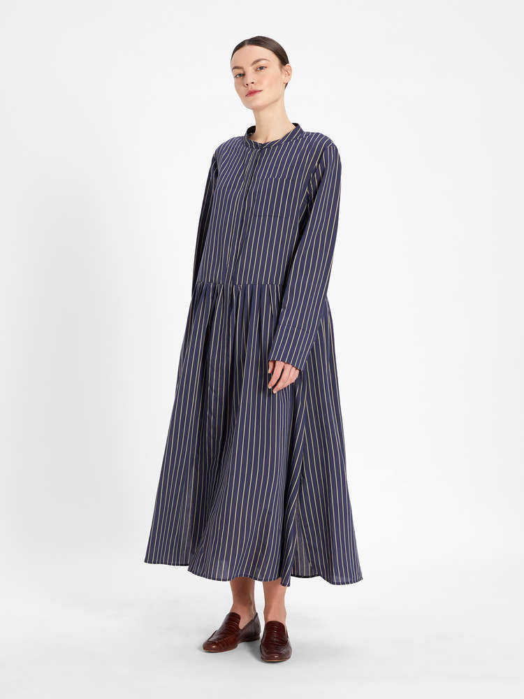 Cotton and silk voile dress
