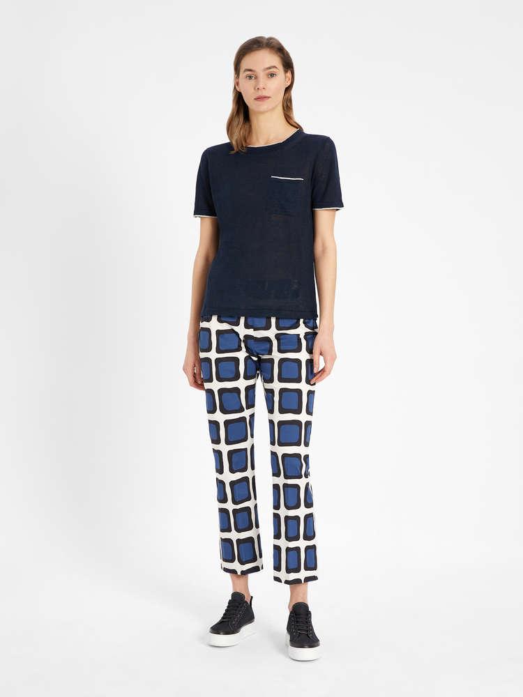 Linen knit T-shirt