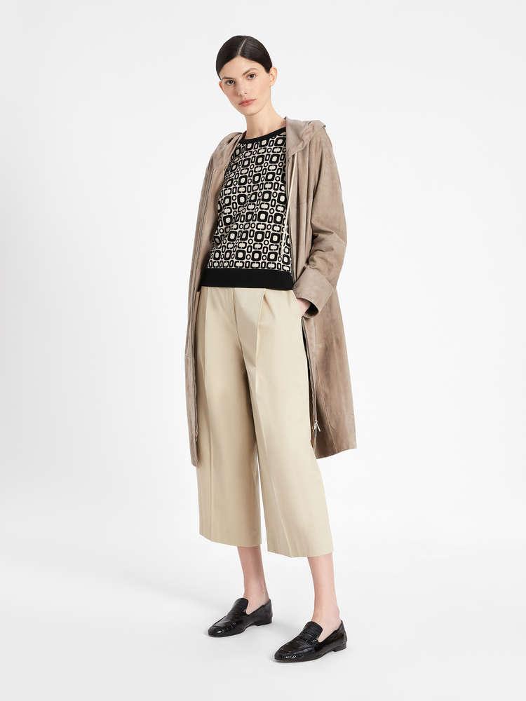 Suede duster coat