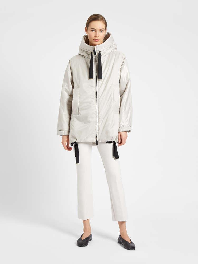 Water-repellent canvas hoodie