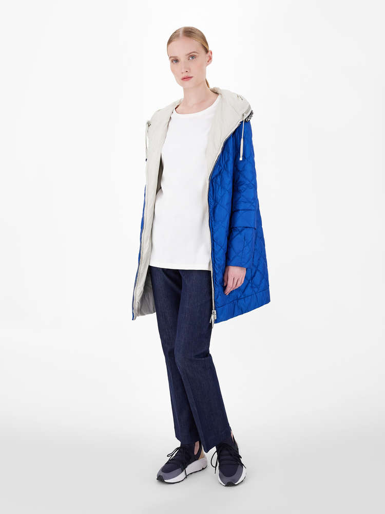 Water-repellent reversible canvas down jacket