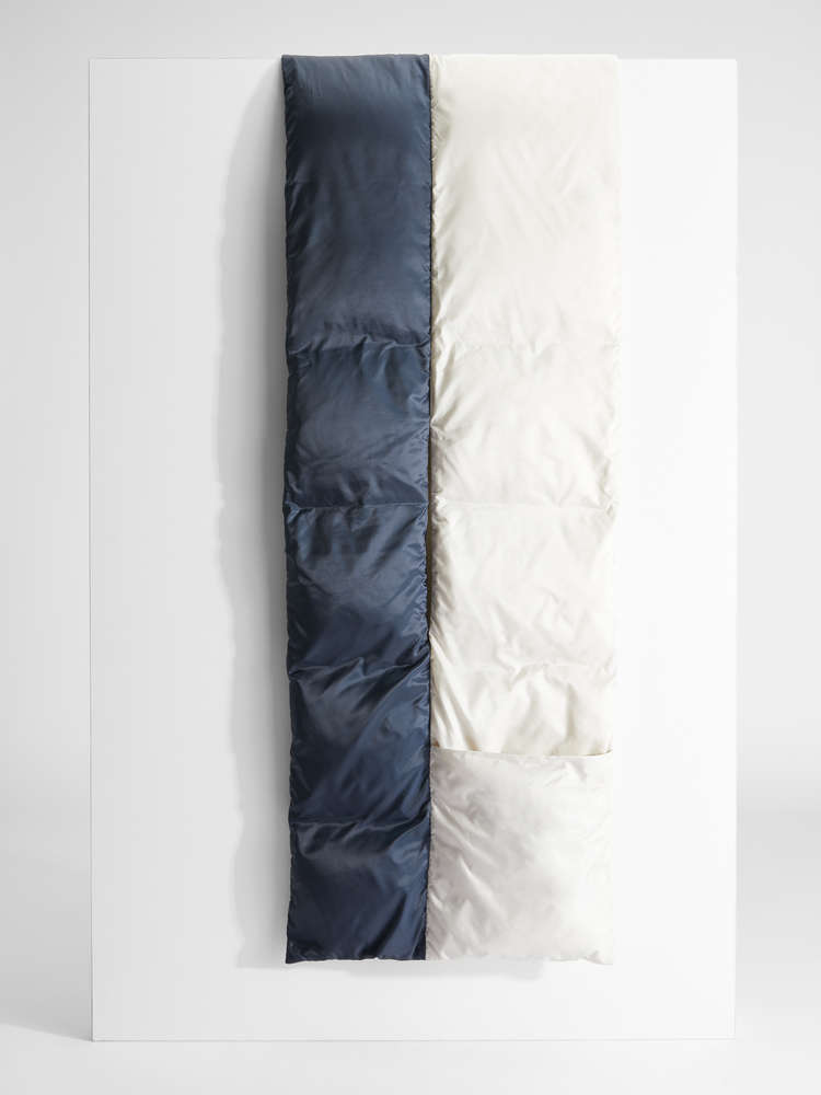 Water-repellent technical canvas scarf