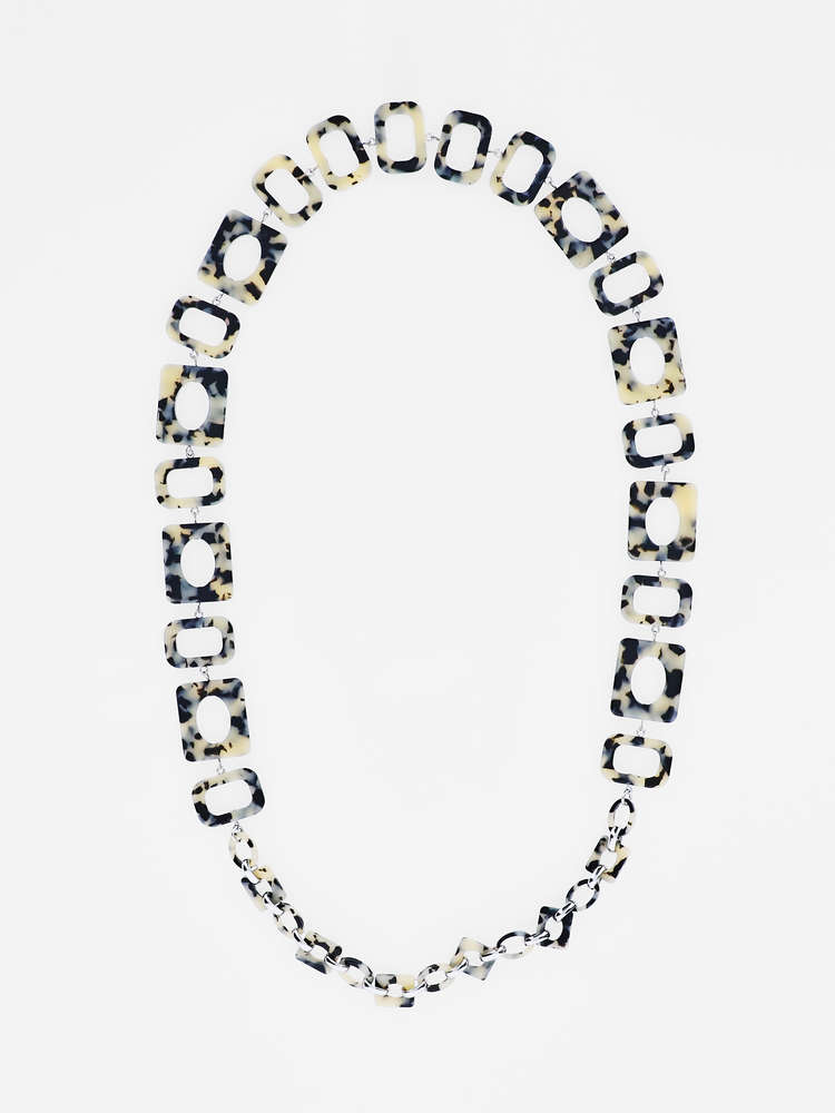 Animal-print chain necklace