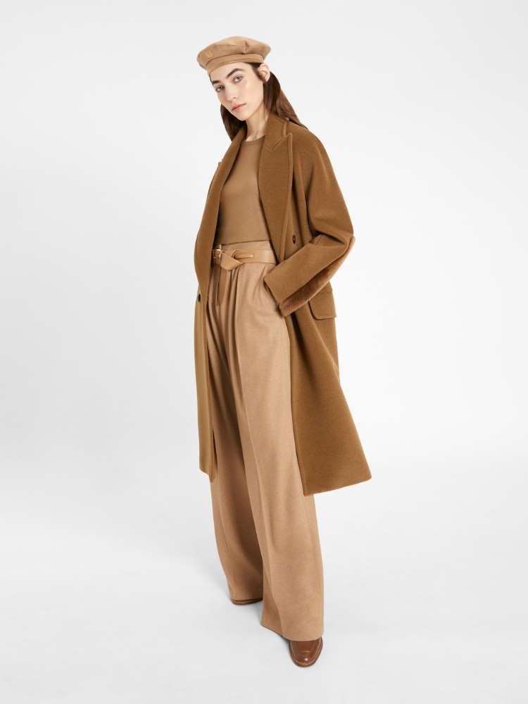 Camel beaver coat