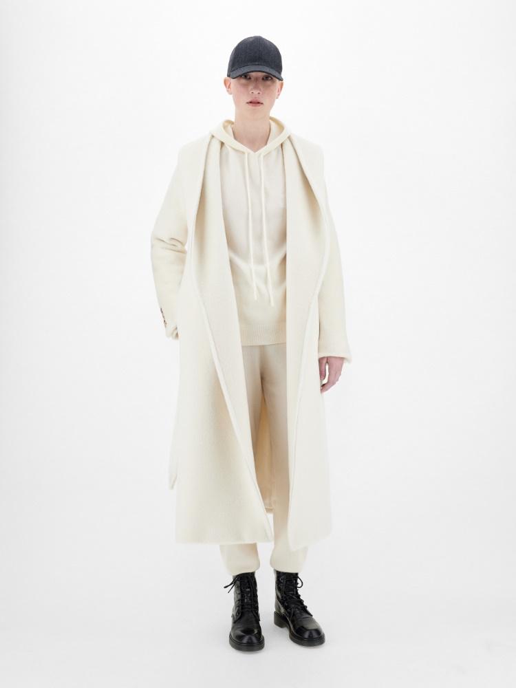 Cashmere, alpaca and camel coat
