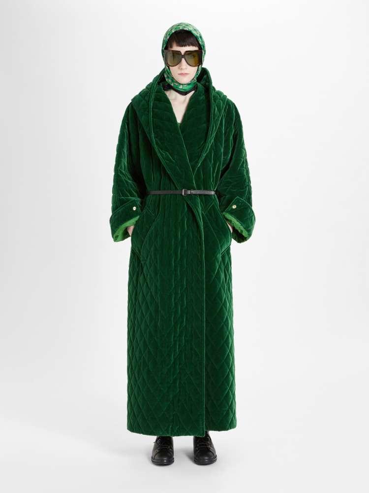 Cotton velvet coat