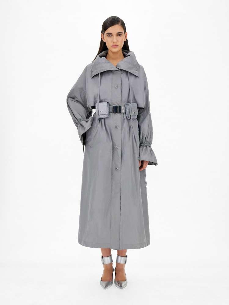 Raincoat in water-resistant taffeta