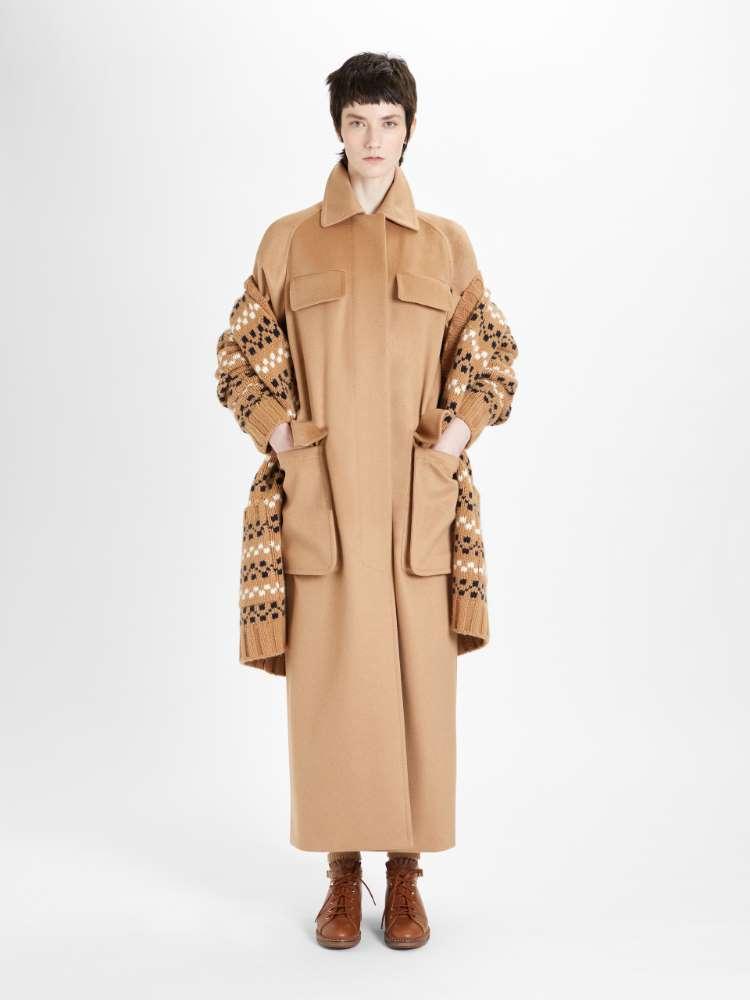 Water-resistant camel coat
