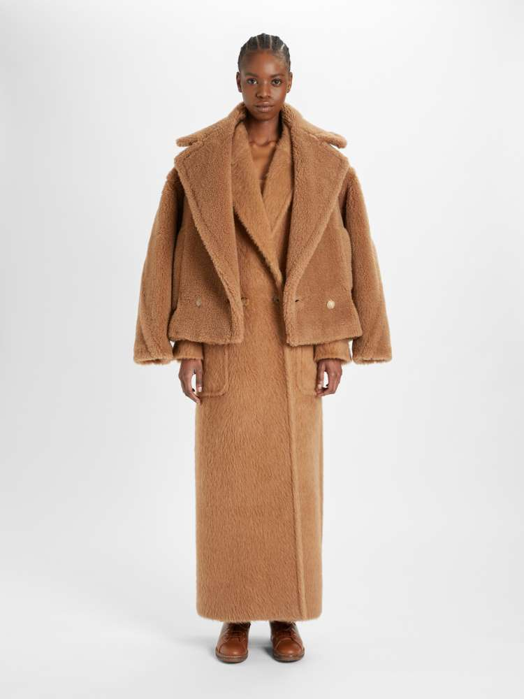 Camel and silk jacket