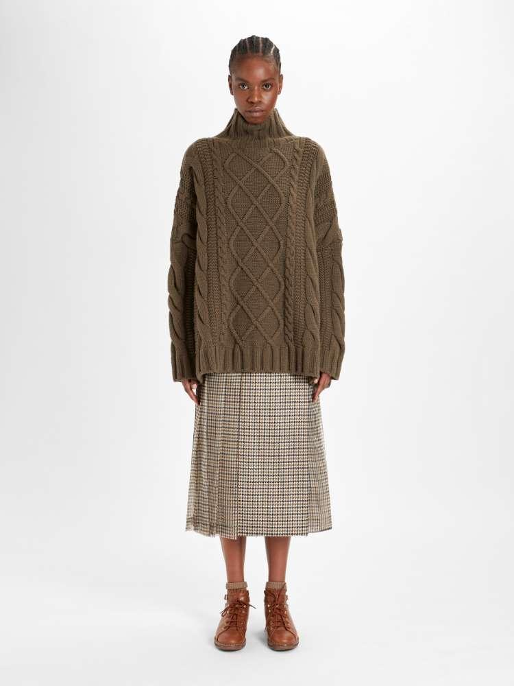 Gonna in seta e lana