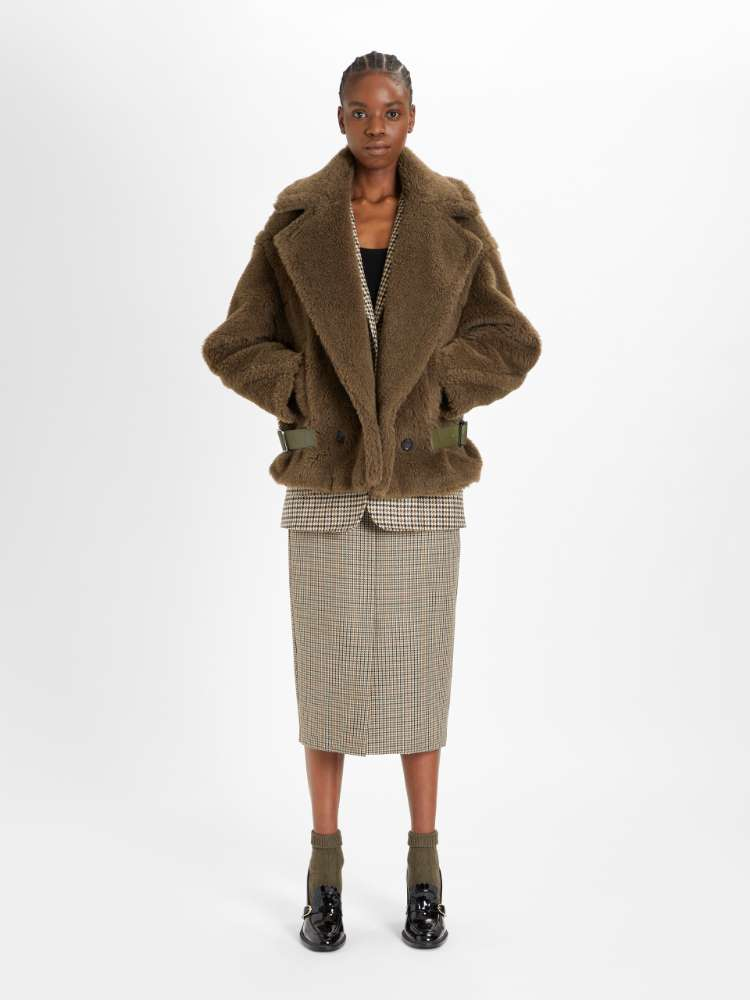 Wool batavia skirt