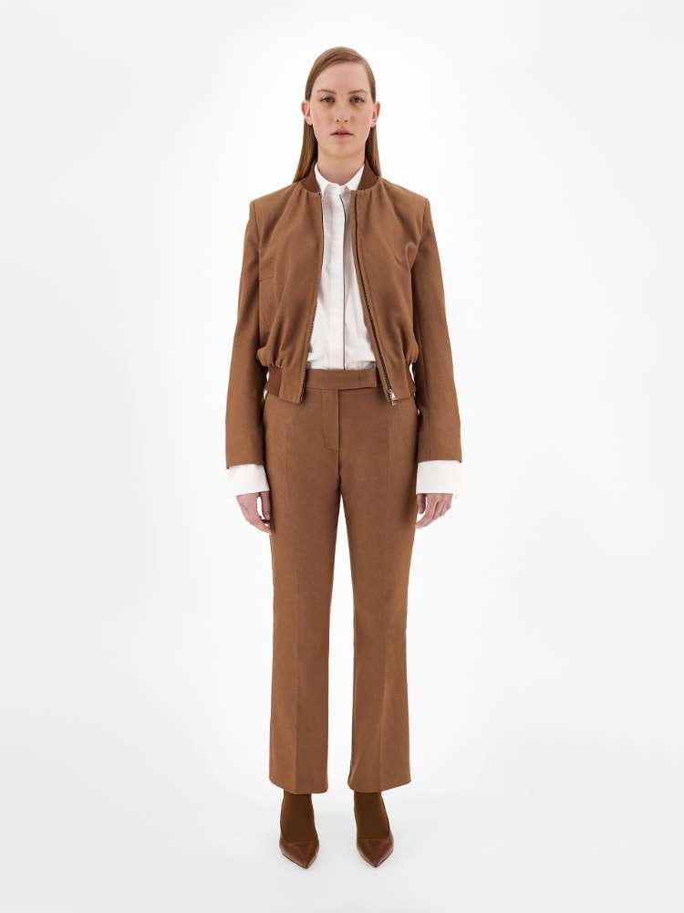 Pantaloni in cotone effetto denim