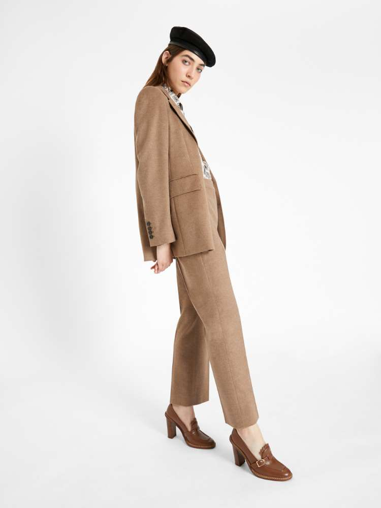 Cashmere and camel trousers