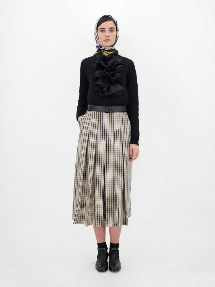 Wool and cashmere culottes