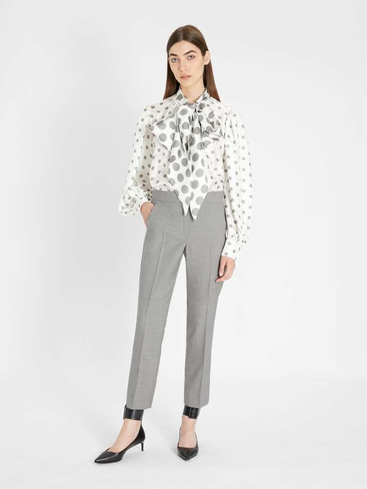 Wool twill trousers