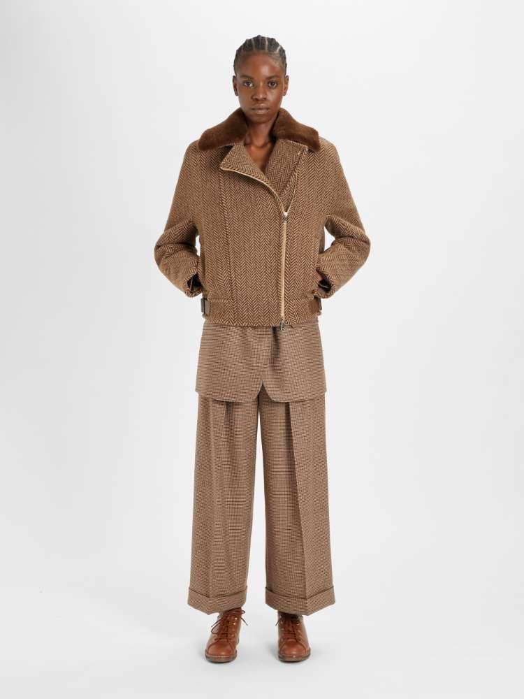 Pantaloni in lana e cachemire