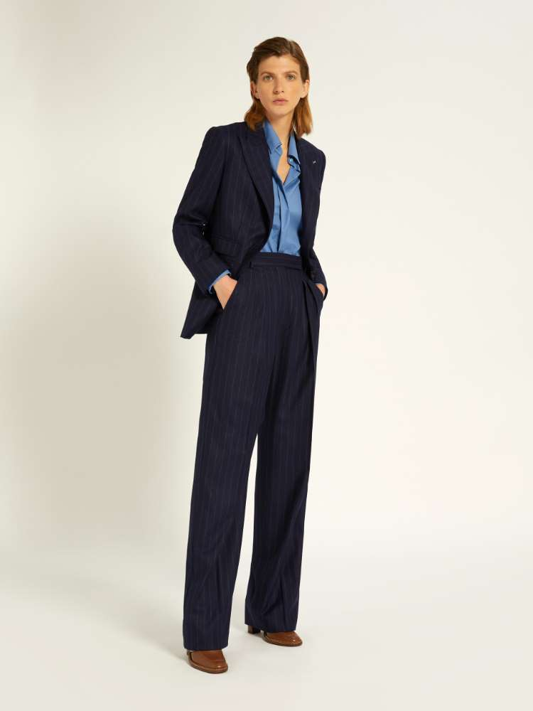 Cashmere and wool trousers