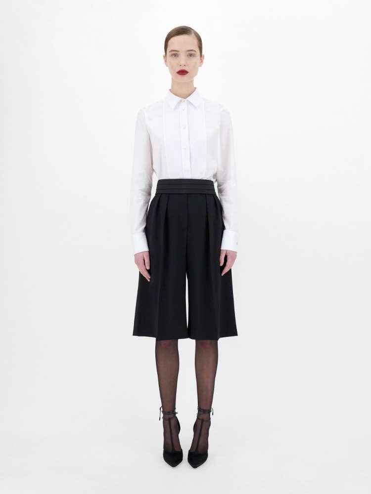 Pantaloni in granite di lana