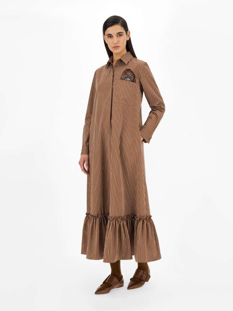Cotton canvas dress