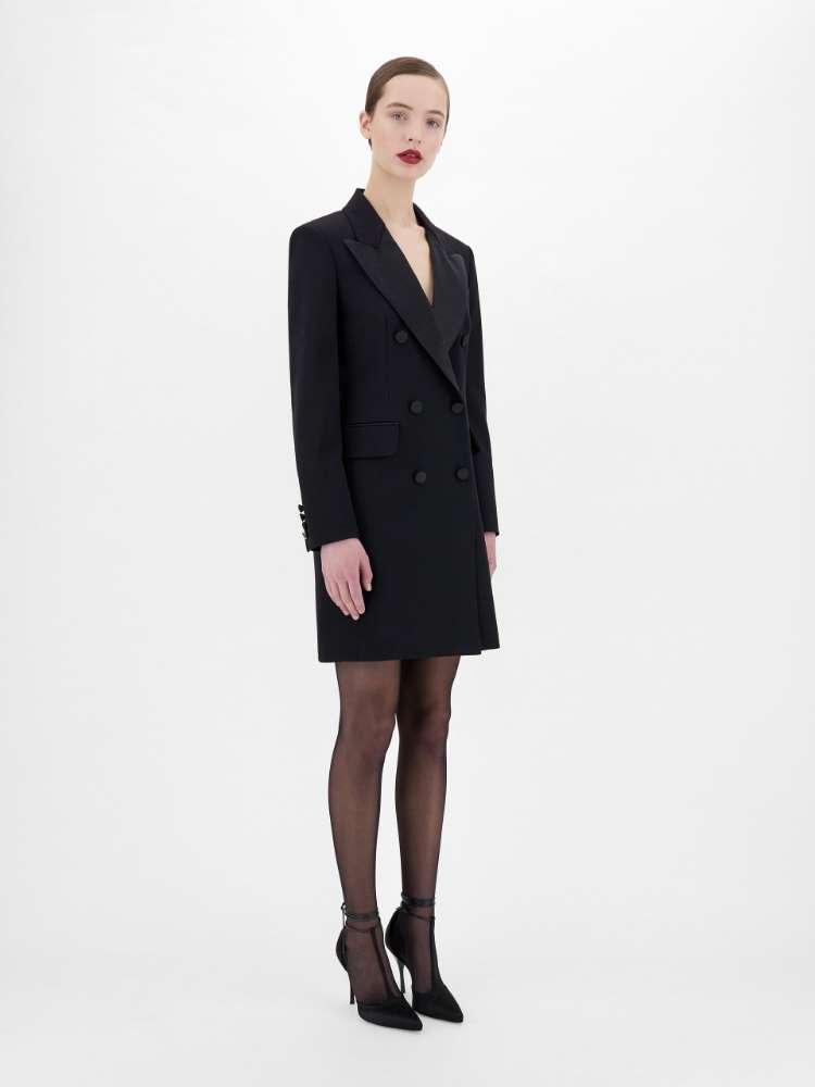 Wool granite dress