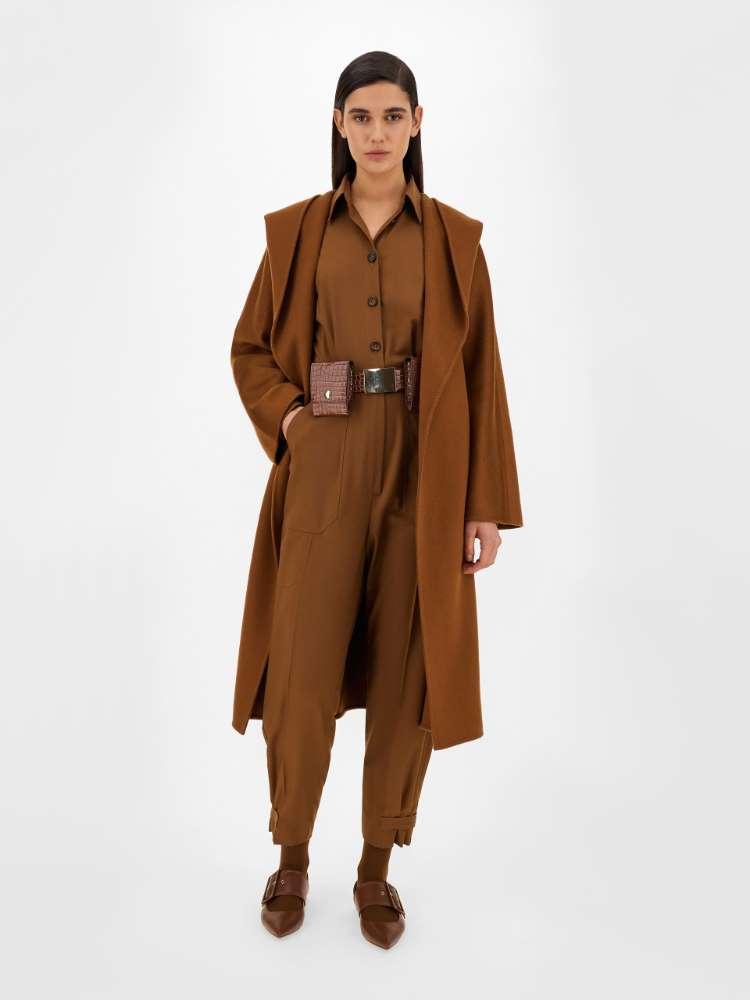 Wool twill jumpsuit