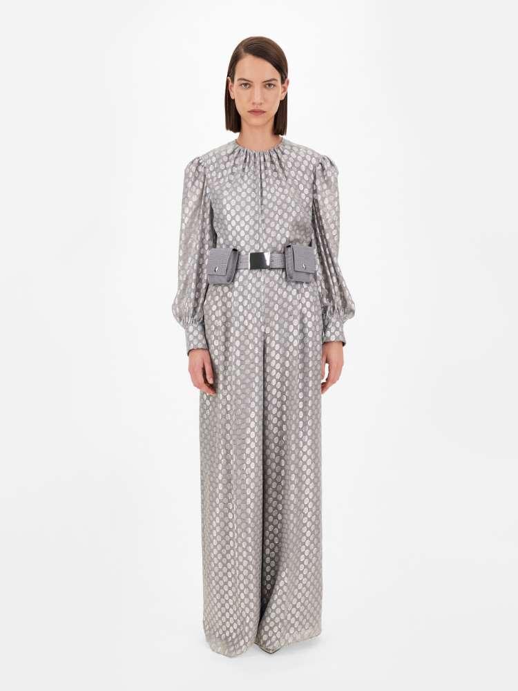 Silk organza jumpsuit