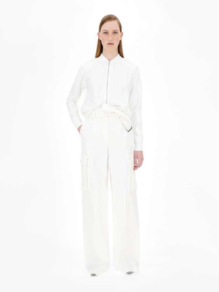 Viscose and silk cardigan