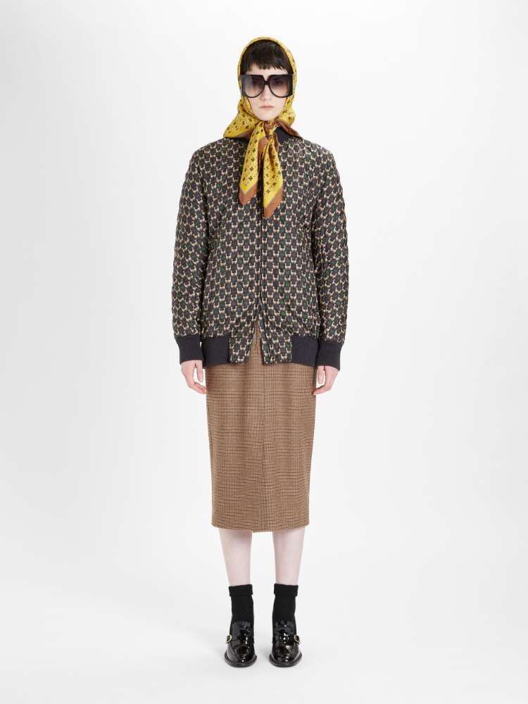 Silk twill bomber jacket