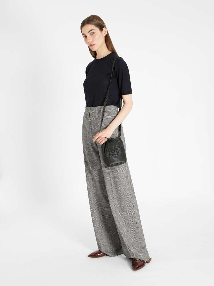 Wool jersey trousers