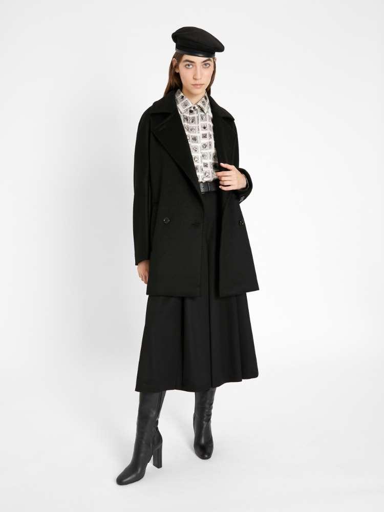 Jupe culotte en jersey de laine