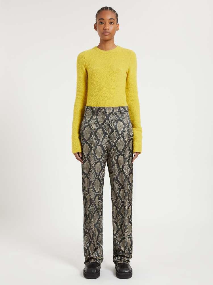 Printed satin trousers