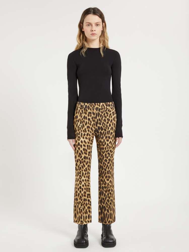 Pantalon à motif animalier