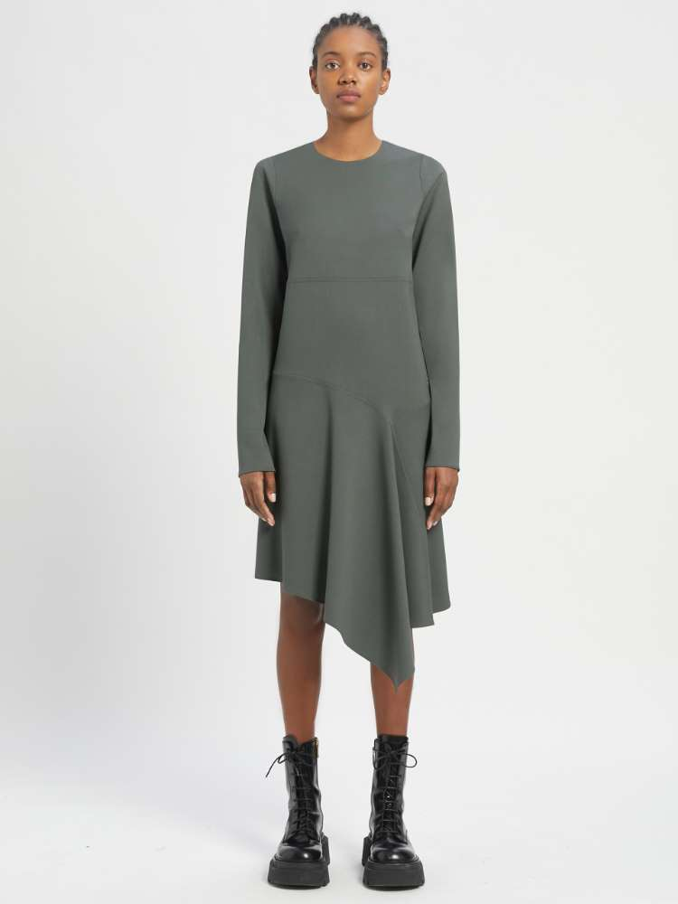 Robe en laine stretch