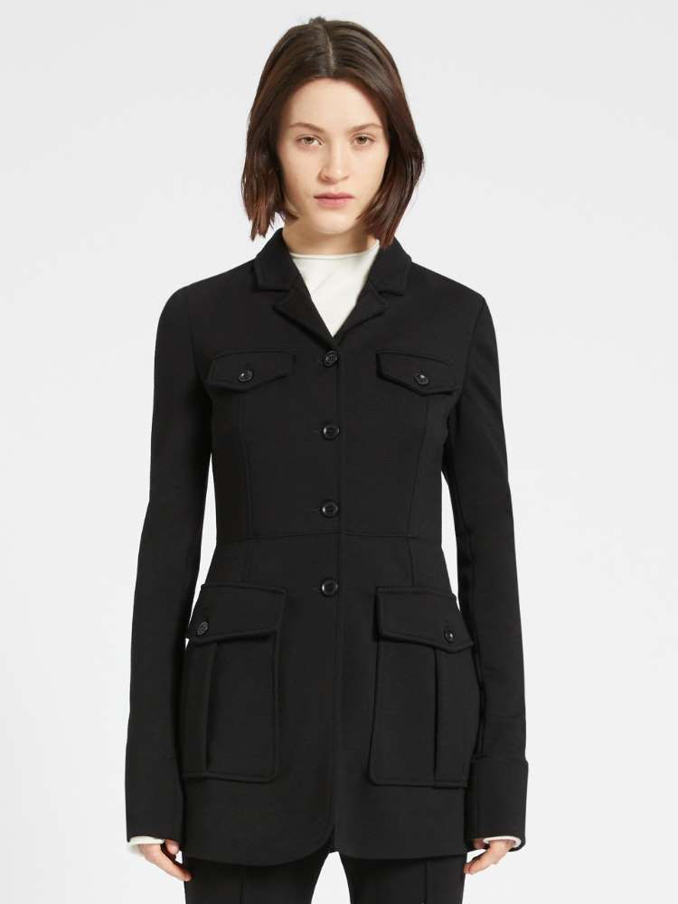 Milano-knit jersey jacket