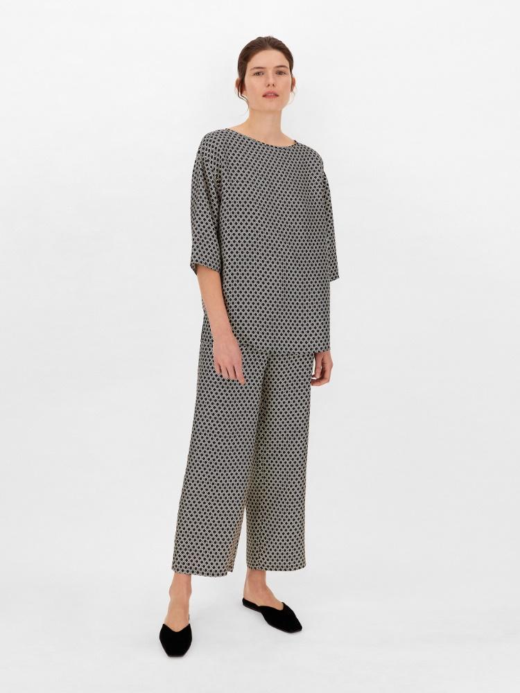 Silk twill trousers