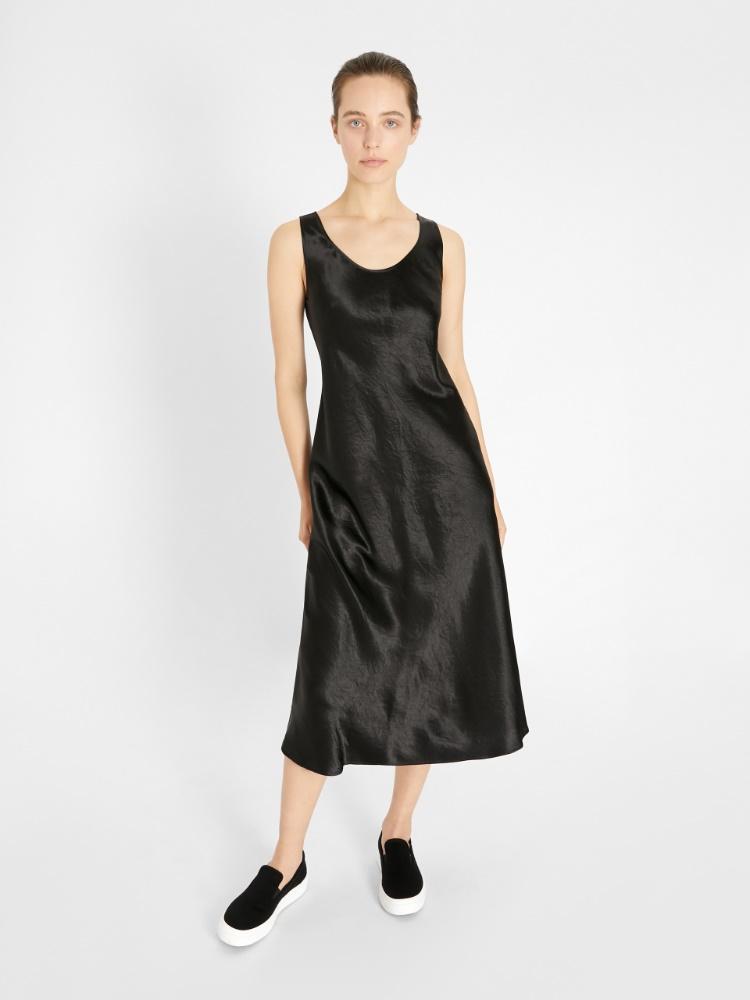 Technical satin dress