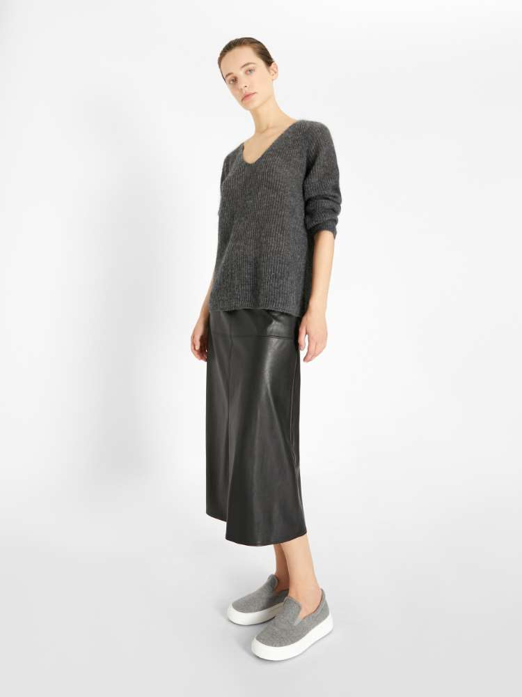 Mohair and wool knit jumper
