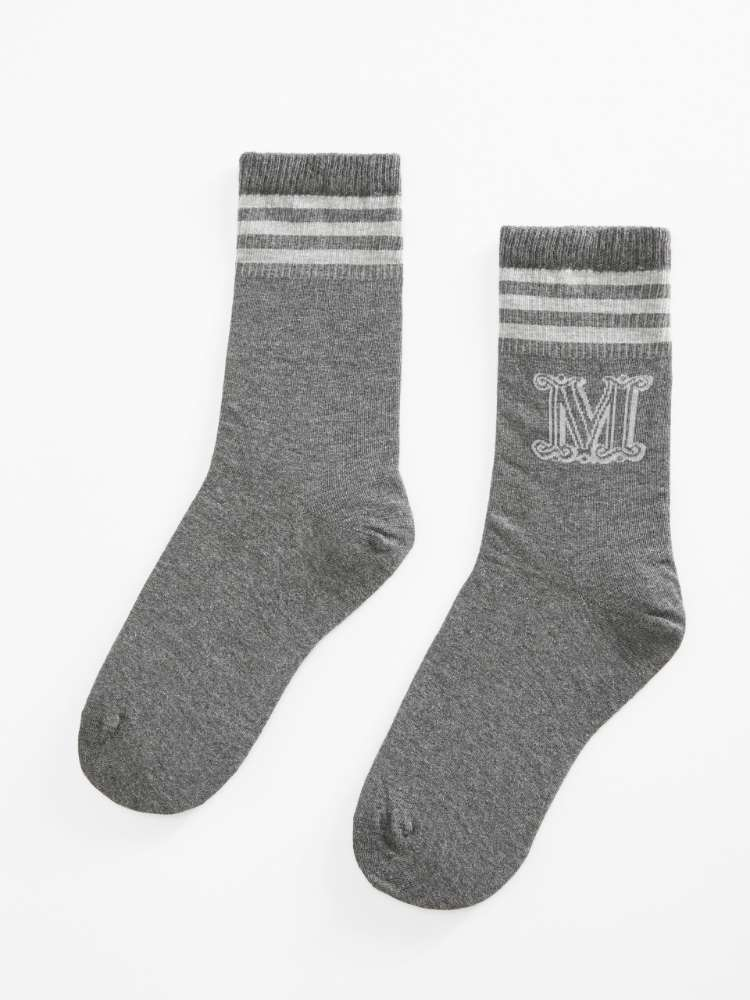 Cotton and cashmere socks