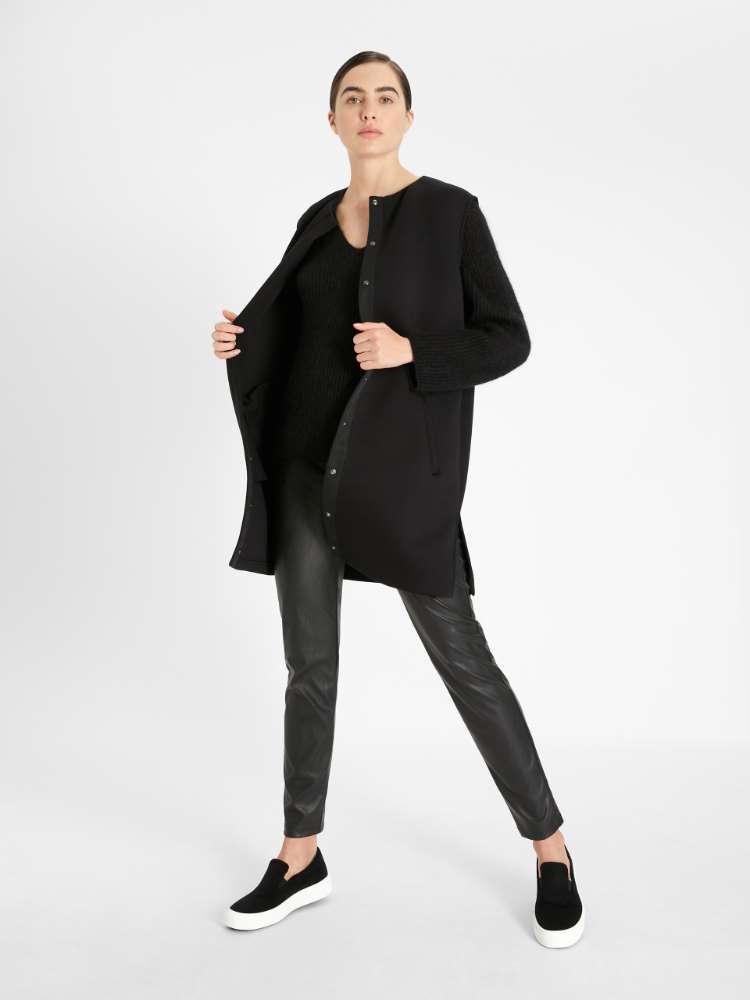 Leather-look leggings