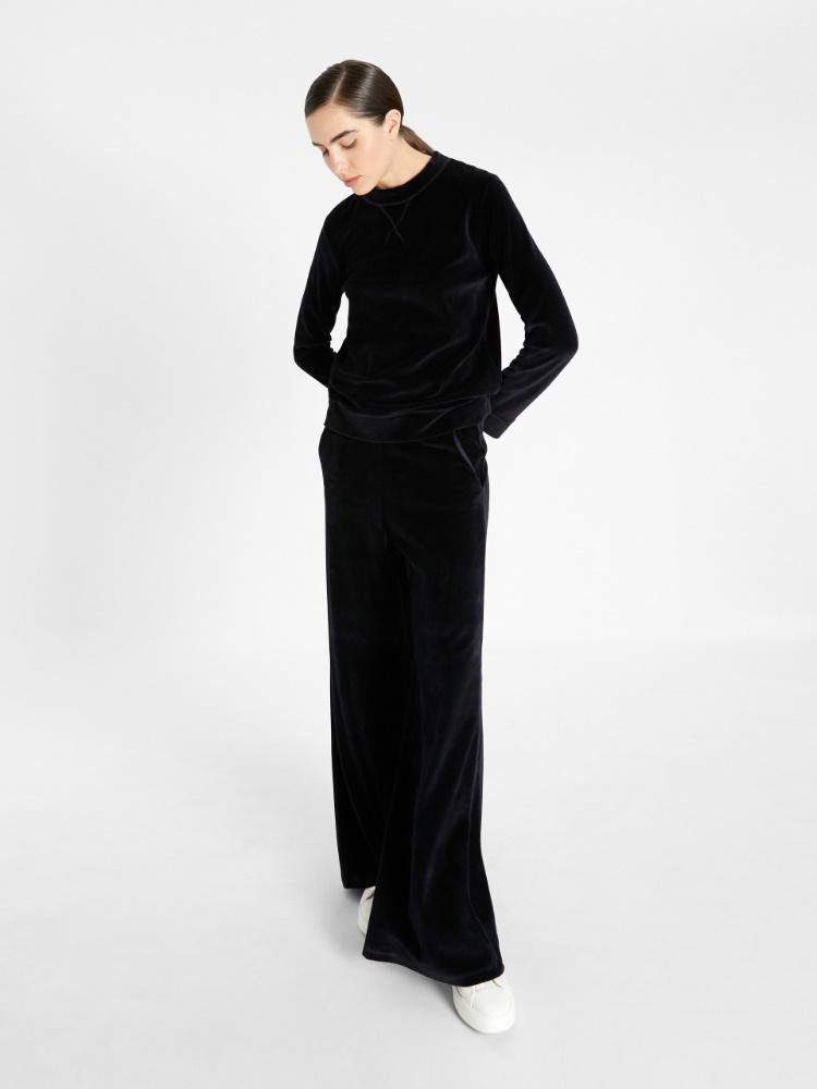 Chenille-look trousers