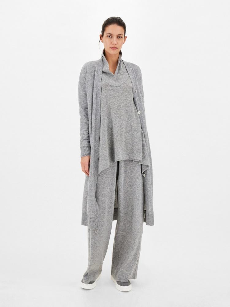 Wool and angora cardigan