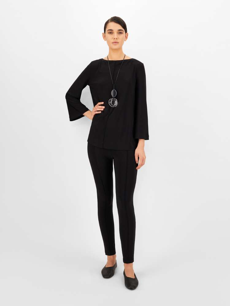 Two-way stretch jersey blouse