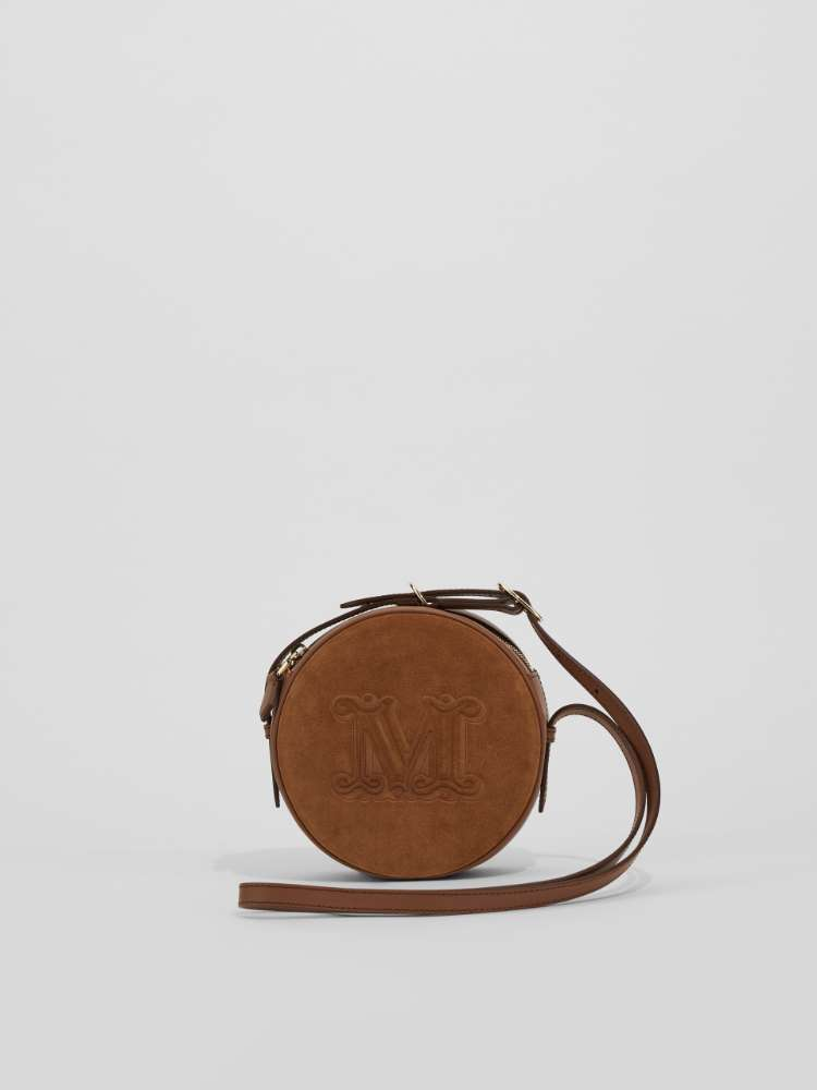 Leather and suede crossbody bag
