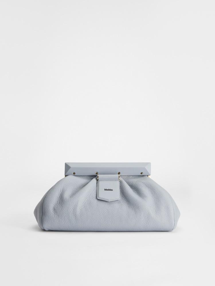 Leather maxi clutch