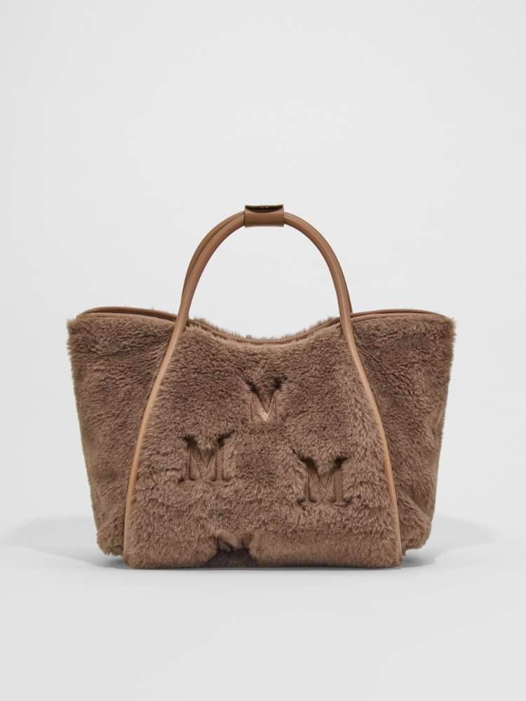 Embroidered alpaca, wool and silk bag