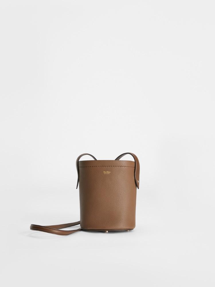 Deerskin bucket bag