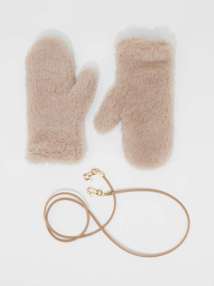 Alpaca, wool and silk mittens