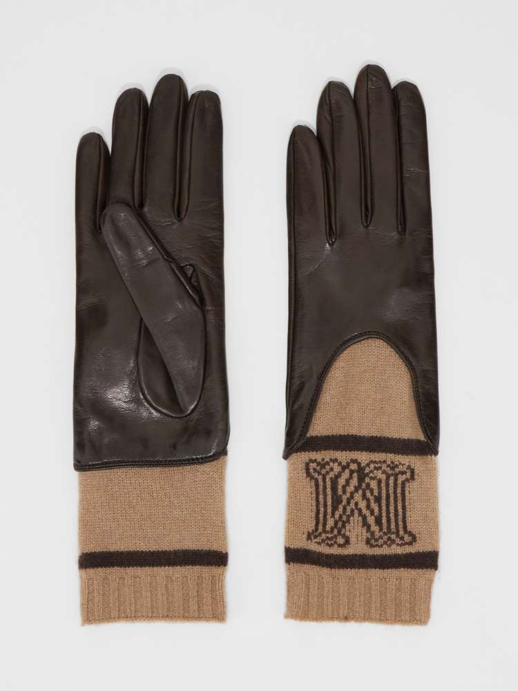 Nappa leather and cashmere gloves