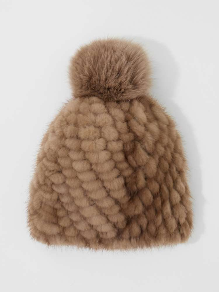 Tricot mink hat