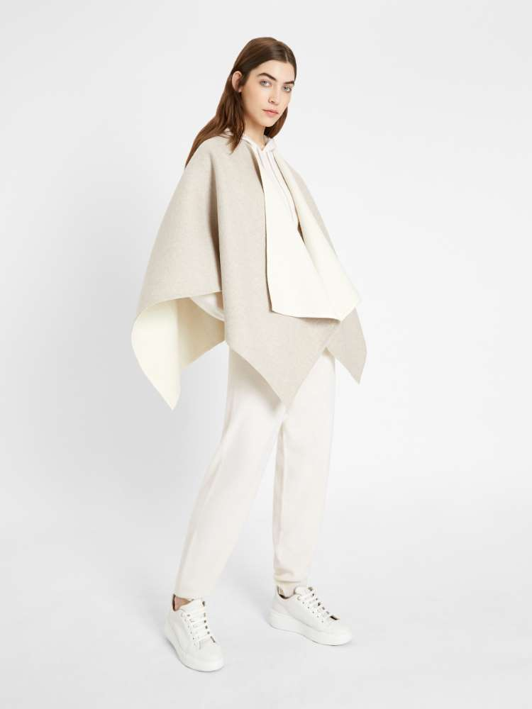 Wool and alpaca cape